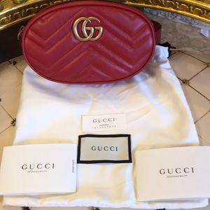 GUCCI BELT BAG RED 85/34 NWT